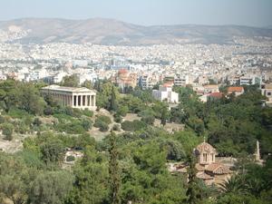 Athene - uitzicht