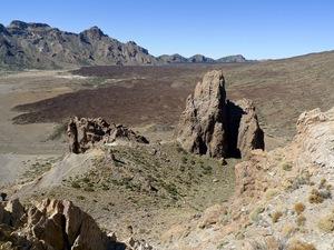 Lava-veld in de caldera van de Teide-Vulkaan