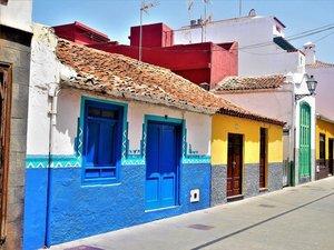 kleurrijke huisjes in Puerto de la Cruz op Tenerife
