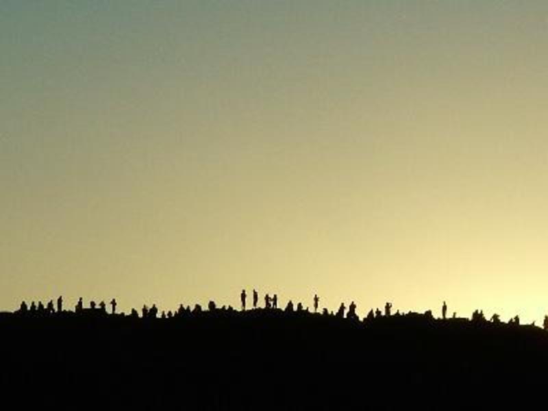 zonsondergaan in de maanvallei