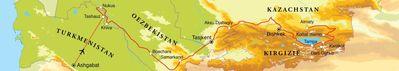 Routekaart Zijderoute, 22 dagen