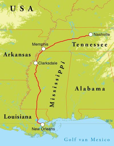 Routekaart Muziekreis Verenigde Staten, 10 dagen