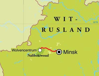 Routekaart Natuurreis Wit-Rusland, 5 dagen