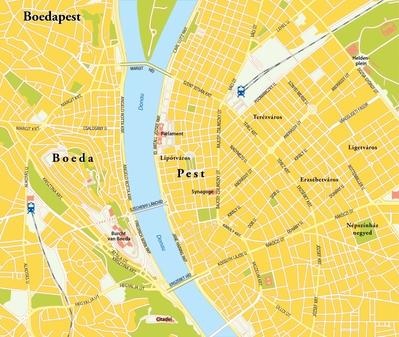 Routekaart Kookreis Boedapest, 4 dagen