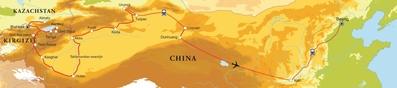 Routekaart Zijderoute, 28 dagen