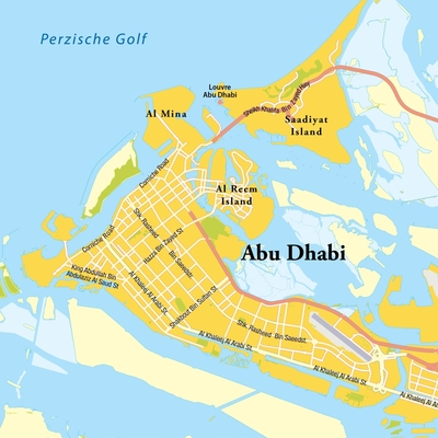 Routekaart Louvrereis Abu Dhabi, 5 dagen