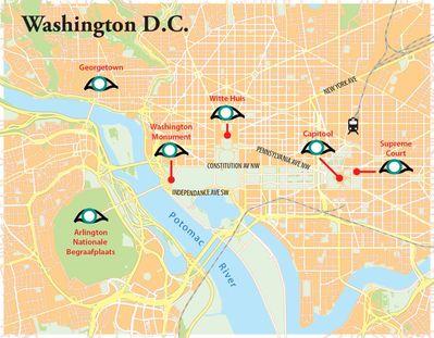 Routekaart Verkiezingsreis Washington, 7 dagen