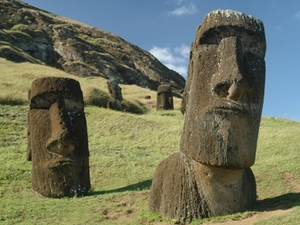 Moai van dichtbij