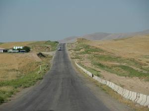 Onderweg tussen Khiva en Buchara