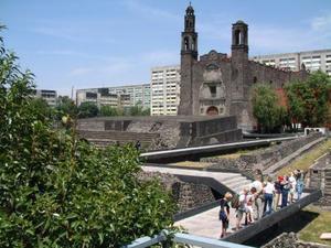 Azteken piramide in Mexico-Stad