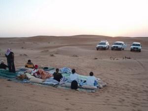 zonsopkomst in de Wahiba