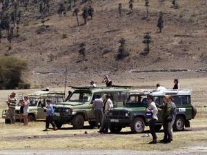 Ngorongoro krater - Landcruisers