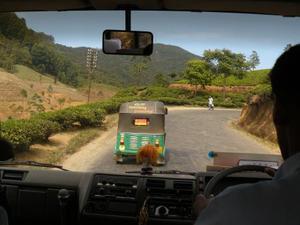 Vanuit de bus