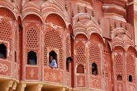 Roze stad Jaipur India