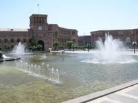 jerevan, centrale plein, fontijn, armenie, djoser