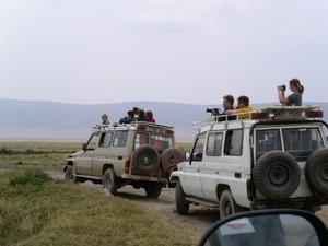 Op safari maken we gebruik van goed uitgeruste trucks/jeeps