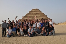 Djoser piramide groep Egypte