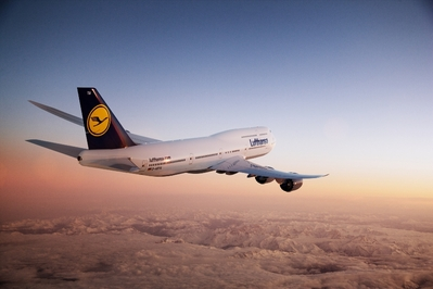 Lufthansa 747 vliegtuig