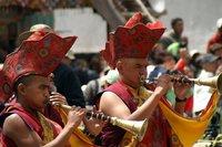 Monniken met trompet Hemis Festival Leh