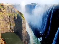Victoria watervallen Zimbabwe Zambia Djoser
