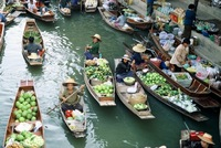 Damnoen Sduak Drijvende Markt River Kwai Thailand Junior Djoser