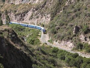 Trein naar Machu Picchu