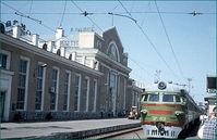 Trein bij station Trans Siberië express Djoser