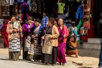 Tibetaanse vrouwen Phokara Nepal Djoser