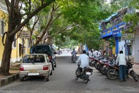 Straatbeeld Pondicherry Zuid India Djoser
