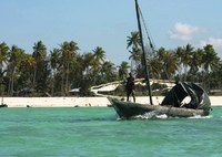 Kust met bootje Zanzibar tanzania Djoser