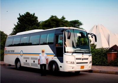Zuid india buitenkant bus rondreis Djoser