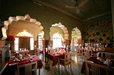 Bissau Palace restaurant Jaipur India Djoser