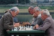 Hongarije Boedapest schakende mannen Djoser