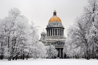 Winters Sint-Petersburg Rusland