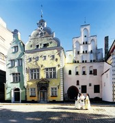 Straatbeeld Riga Letland