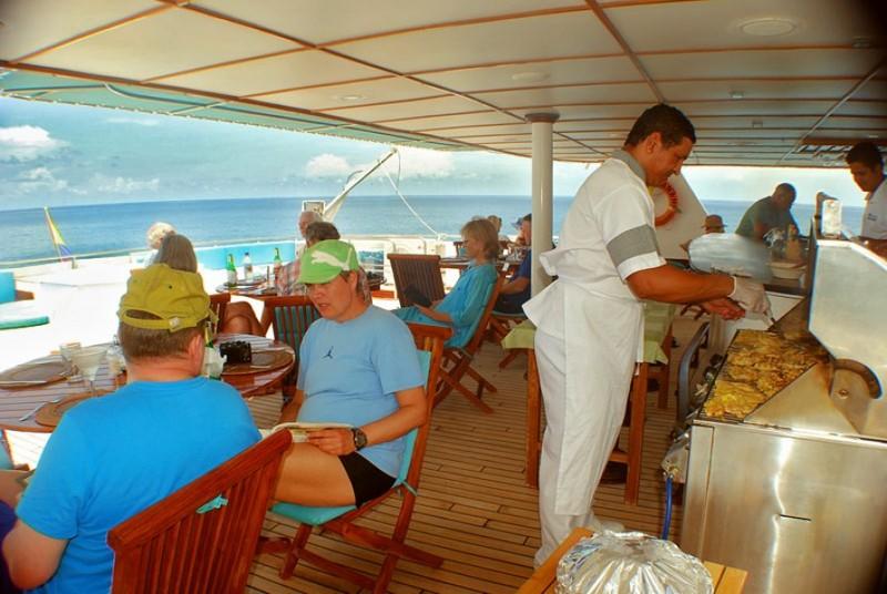 Anahi lunch main deck