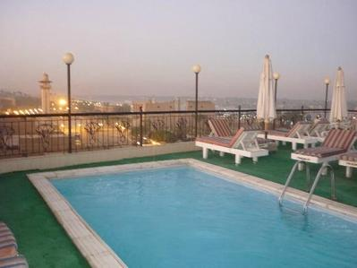 Egypte zwembad hotel Djoser