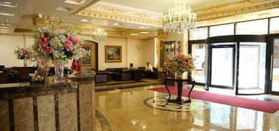 Armenie en Georgie hotel lobbyaccommodatie Djoser