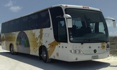 Guatamala en mexico Buitenkant bus rondreis Djoser