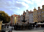 Straat plein huizen Gdansk Polen Djoser