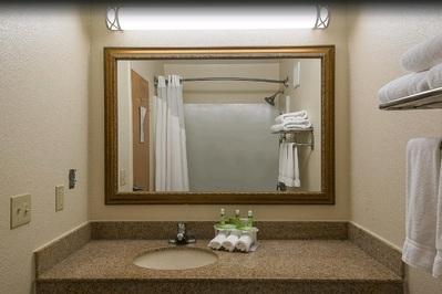 Verenigde staten hotel accommodatie badkamer Djoser