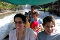 Klong tour Bangkok Thailand Family Djoser
