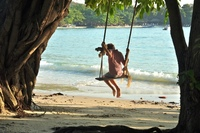 Strand schommel family Thailand