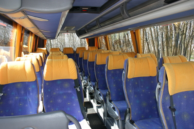 Polen Bus interieur blauw Djoser