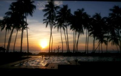 Sri Lanka ondergaande zon strand Djoser