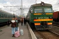 Transssiberië Express station Rusland
