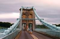 Wales Wandel Menai Bridge Djoser