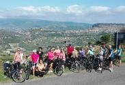 Groepsfoto uitzicht Sardinie Italie fietsreis
