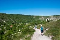 Orhei Vecci wandelaar landschap moldavie