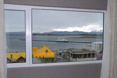 Hotel Tierra del Fuego uitzicht Ushuaia Argentinie
